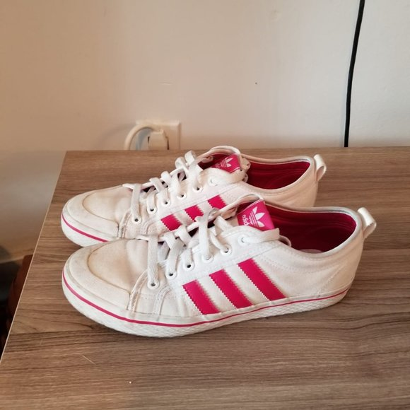 Women's Addidas shoes Red & white women's size 9